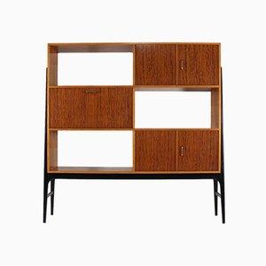 Bufet de haya y madera de zebrano de Alfred Hendrickx para Belform, años 50
