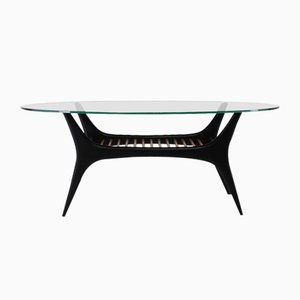 Beech and Glass Coffee Table by Alfred Hendrickx for Belform, 1950s