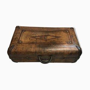 Valigia vintage in pelle, anni '20