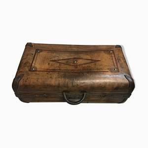 Vintage Leather Suitcase, 1920s