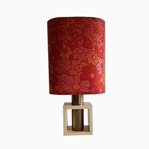 German Beech and Brass Table Lamp, 1960s