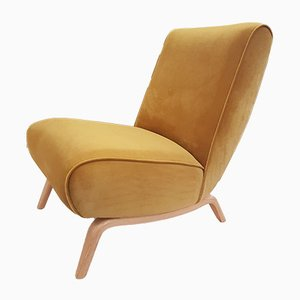 Mid-Century Danish Beech Lounge Chair, 1960s