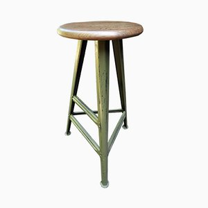 Vintage Industrial German Stool by Robert Wagner for Rowac