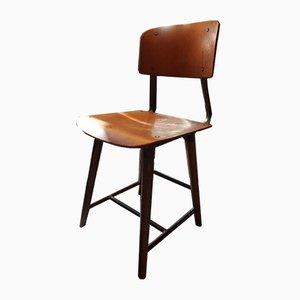 Deutscher industrieller Vintage Stuhl von Robert Wagner für Rowac