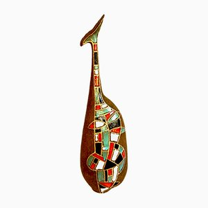 Vase Mid-Century en Céramique par Roberto Rigon RR, Italie