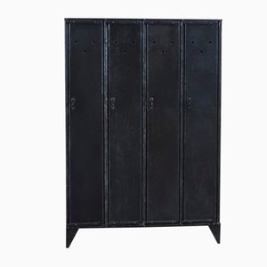 Industrial German Iron Cabinet, 1920s