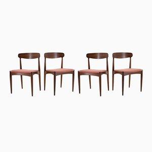 Dänische Esszimmerstühle aus Teakholz von Johannes Andersen, 1960er, 4er Set