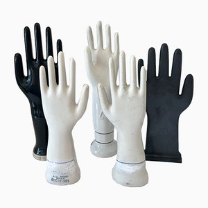 Vintage American & German Black & White Porcelain Glove Molds