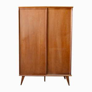 Mid-Century French Plywood and Wood Wardrobe, 1950s