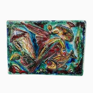 Vintage Wandtafel aus Keramik von Sam Repubblica di San Marino