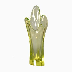 Jarrón francés de vidrio coloreado de Vallerysthal, años 50
