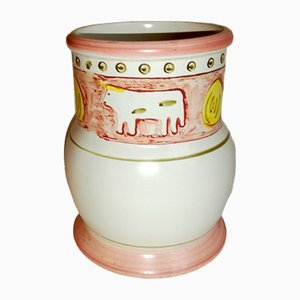 Mid-Century Italian Ceramic Vase from Le Ceramiche di Positano
