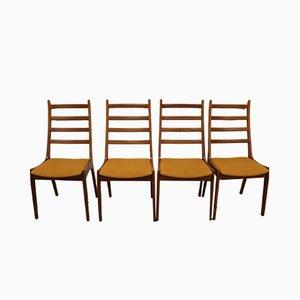 Dänische Esszimmerstühle aus Teak von Kai Kristiansen für Korup Stolefabrik, 1960er, 4er Set