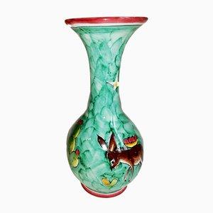 Mid-Century Italian Ceramic Vase by S.M. for La Vietrese