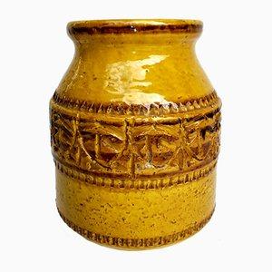 Mid-Century Italian Ceramic Vase by Caruso for SIC