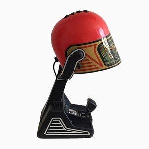 Deutsche Tischlampe in Helm-Optik aus Plastik und ABS Kunststoff von Fase, 1970er