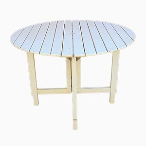 Italian Wooden Garden Table from Fratelli Reguitti, 1970s