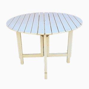 Mesa de jardín italiana de madera de Fratelli Reguitti, años 70
