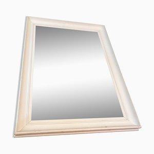 Weiß lackierter Spiegel, 1950er