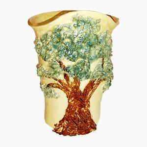 Mid-Century Italian Ceramic Vase by R. L.