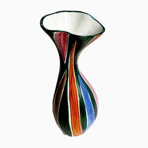 Italienische Mid-Century Keramikvase von Maioliche Deruta