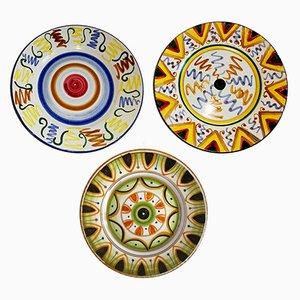 Platos decorativos vintage de Zanon C., años 50. Juego de 3