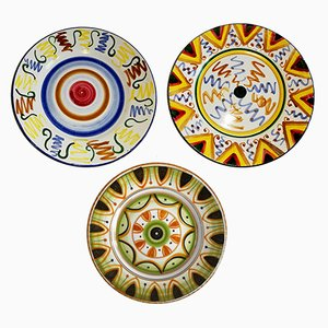 Vintage Decorative Plates from Zanon C., 1950s, Set of 3