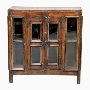 Hand-Crafted Glass and Teak Cabinet, 1950s