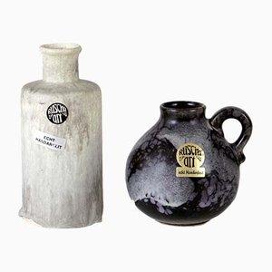Deutsche Vintage Keramikvasen von Ruscha, 1970er, 2er Set