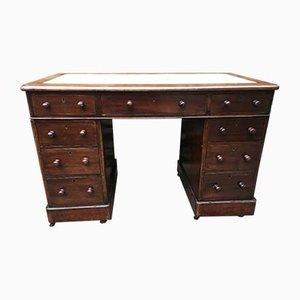 Antiker Schreibtisch aus Leder & Mahagoni