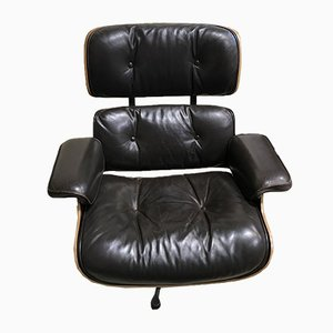 Leather and Palisander Lounge Chair by Charles & Ray Eames for Herman Miller, 1970s
