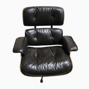 Sessel aus Leder und Palisander von Charles & Ray Eames für Herman Miller, 1970er