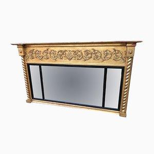 Miroir de Cheminée en Triptyque Antique