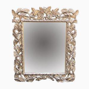 Italienischer versilberter Spiegel, 18. Jh