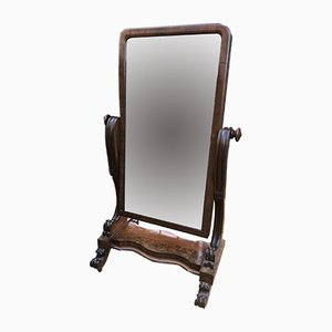 Antique Mahogany Cheval Mirror