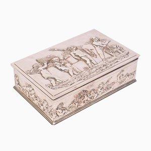 Boîte Antique en Argent Plaqué
