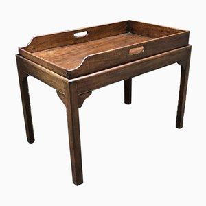 Tavolino di servizio antico con vassoio