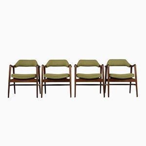 Moderne Mid-Century Esszimmerstühle, 1960er, 4er Set