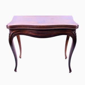 Antiker französischer Kartentisch aus Veilchenholzfurnier