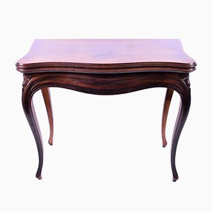 Antique French Kingwood Veneered Card Table