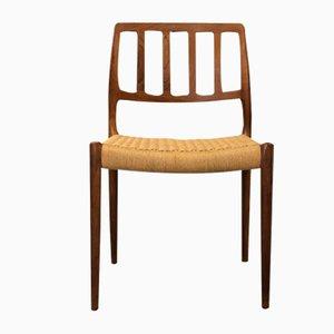 Sedia nr. 83 in teak di Niels O. Møller per JL Møllers, anni '60