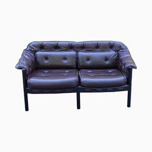 Mid-Century Leather 2-Seater Sofa, 1960s