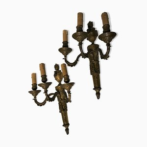 Antique Bronze Wall Lights, Set of 2