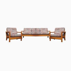 Skandinavisches modernes Lounge-Set aus Teak von Juul Kristensen, 1980er