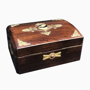 Antique French Rosewood Palaise Royale Jewelry Box