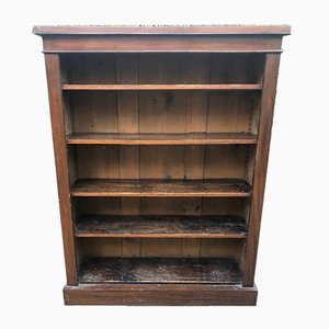 Large Antique Walnut Veneered Bookcase