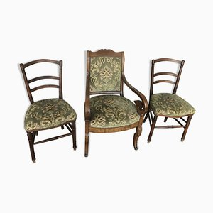 Antique Set with Armchair and 2 Chairs