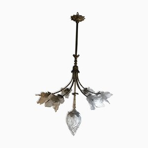 Lustre Tulipe Antique en Bronze