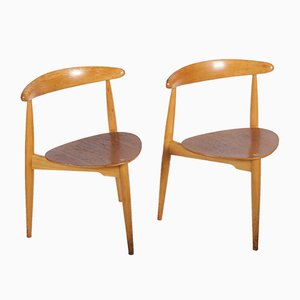 Scandinavian Modern Style Teak and Veneer Dining Chair, 1950s