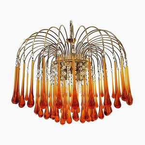Italian Murano Glass Drop Chandelier, 1968